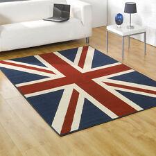 Union jack design rug, 120x160cm Black grey or Red Ivory blue. SPECIAL OFFER
