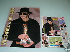 Michael Jackson/Boyzone 90s Magazine Poster+Article