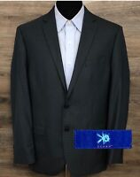 EGARA Men's Slim Fit Gray Plaid Wool Two-Button Blazer Sport Coat Jacket 40R