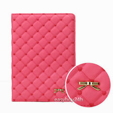 Luxury Bowknot Leather Smart Case Stand Cover for iPad 2 3 4 mini1/2/3 Air2 Air