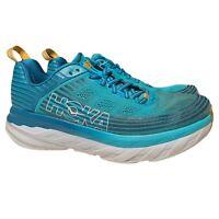 Hoka One One W Bondi 6 Men's Size 9.5 Blue Yellow Running Athletic Shoes