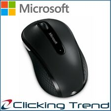 Wireless Mouse Microsoft Mobile 4000 Portable Mice PC Mac Blue Track USB Black