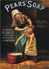 "TARGA VINTAGE ""PEARS' SOAP 1789"" Pubblicità, Advertising, Poster, Plate, Retro"