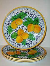 iL Mulino Tuscan Lemons Dinner Plates Set of 4 Melamine Fresh Yellow!