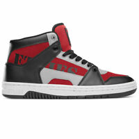 Etnies Men's MC Rap Hi Top Sneaker Shoes Black/Red/Gray Footwear Skate Streetwea