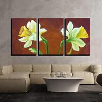 "Wall26 - Narcissus Oil Painting - Canvas Art Wall Decor - 24""x36""x3 Panels"