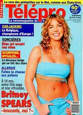 french magazine Télépro N°2405 britney spears 2000