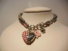 """Pink Crystal Heart 8 - 8.5"""" B291 Brighton La Vie En Rose Pop Bracelet"""
