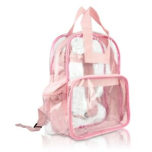DALIX Clear Backpack School Bag See Through in Light Pink Free Shipping
