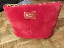 CHANEL Red Makeup Cosmetics Toiletries Purse RED GENUINE