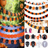 Halloween Party Pumpkin Spider Ghost Hanging Garland Decor Haunted House Decor