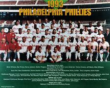 1993 PHILADELPHIA PHILLIES 8X10 TEAM PHOTO BASEBALL PICTURE MLB