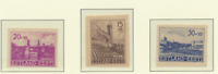 Estonia (German Occupation) Stamps Scott #NB1-3, Mint Hinged Imperforate, No Gum