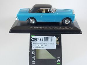 Bentley Continental S2 DHC 1961. 1:43 Scale. Road Signature Die Cast. MIB