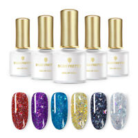 BORN PRETTY 6ml Holographics Star Moon Sequins Gel Soak Off Nail UV Gel Polish