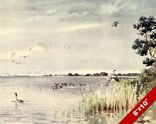 HORSEY MERE NORFOLK ENGLAND ENGLISH LANDSCAPE ART PAINTING REAL CANVAS PRINT