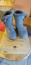UGG Classic Bailey Button 5803 Boots Gray size 6 GUC Genuine Uggs