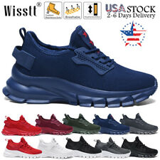 Wisstt Mens Athletic Shock Cushion Sneakers Fitness Running Casual Walking Shoes