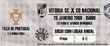 Ticket - Vitoria Sport Clube v CD Nacional 20.01.2008