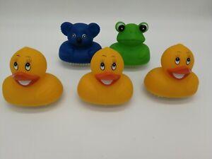 3er Set Wurzelbürste Kinder Nagelbürste Entchen Ente Bürste Handbürste