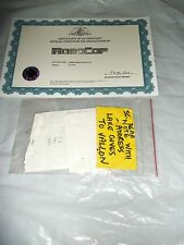 Robocop (2014) SCREEN USED Note to Vallon KEY PROP MGM W/ COA AMAZING !