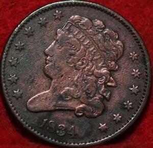 1834 Philadelphia Mint Copper Classic Head Half Cent 13 stars