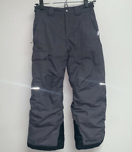 Columbia Bugaboo Youth Boys Girls S 8 Ski Snow Pants Gray Omni-Heat Outgrown
