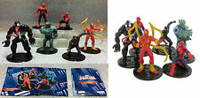 MARVEL SUPEREROI ULTIMATE SPIDERMAN COMANSI SERIE 6 FIGURE COMPLET SET 6 FIGURES