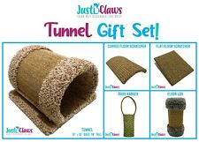 Just B'Claws Gift Set: Cat Carpet Tunnel+Sisal Log+Floor & Hanging Scratch Pads!