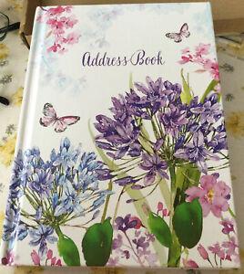 Baker & Taylor Agapanthus On Front & Back Hard Covers Address Book