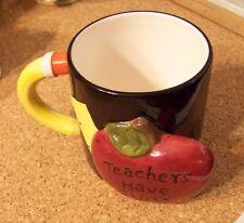 Teachers Have Class 3-D apple ceramic mug coffee cup