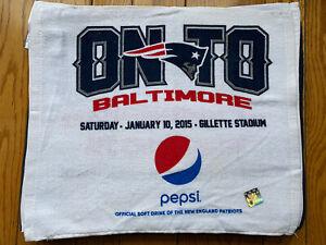 New England Patriots vs Baltimore Ravens Rally towel!! AFC SB XLIX champions!!