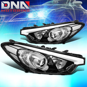 FOR 2014-2016 FORTE 5 KOUP PROJECTOR FRONT DRIVING HEADLIGHT LAMPS CHROME/CLEAR