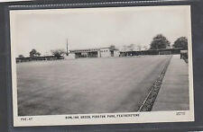 BOWLING GREEN ,PURSTON PARK, FEATHERSTONE .OLD  REAL PHOTO POSTCARD