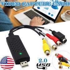 VHS to Digital File Converter Express USB2.0 to Video Grabber Audio AV TV Card