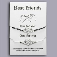 Best Friends Couple Rope Distance Bracelet BFF Friendship Card Women Jewellery
