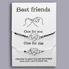 Best Friends Couple Rope Distance Bracelet BFF Friendship Card Women Jewellery