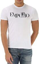 White Emporio Armani Split Logo Mens T-shirt - size M, L, XL