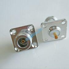 N female jack flange 4 holes mount solder cup RF Connector 25mmx25mm
