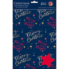Help For Heroes Christmas Gift Wrap & Tags - Starry Christmas