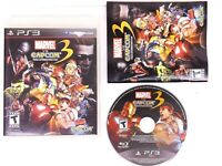 Marvel vs. Capcom 3: Fate of Two Worlds Sony PS3 Video Game CD Case Manual