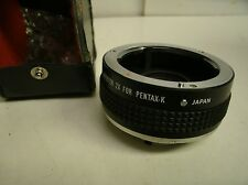 IMADO Auto Tele Converter 2X for PENTAX-K Mount with case  Japan