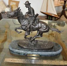 'Trooper of the Plains' Frederic Remington Bronze Sculpture 13