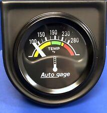 Auto Meter Autogage 2355 Black Gauge Consol Electric Water Temperature 1 12