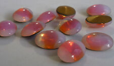 12 Vintage Glass Rhinestones Orange Sabrina Oval Foiled PB Germany 18x13mm C2-3