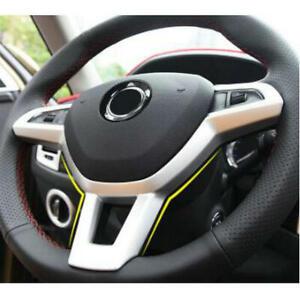 ABS Steering Wheel Cover Trim for SKODA Kodiaq Octavia A7 Rapid Yeti Superb