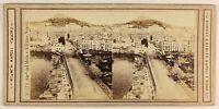 Napoli Molo Foto Sommer & Behles Stereo PL56L1n Vintage Albumina 1864