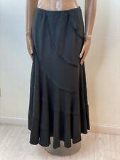 NEXT Black Linen Long Flare Skirt Size 12 Steampunk