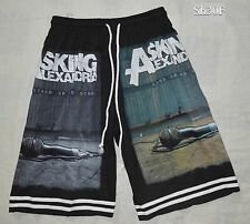 Asking Alexandria 'Stand Up and Scream' Music Black Board Shorts -Free Size -NEW