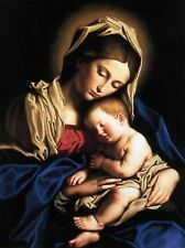 Oil Painting repro Blessed Virgin Mary and Infant Child Jesus